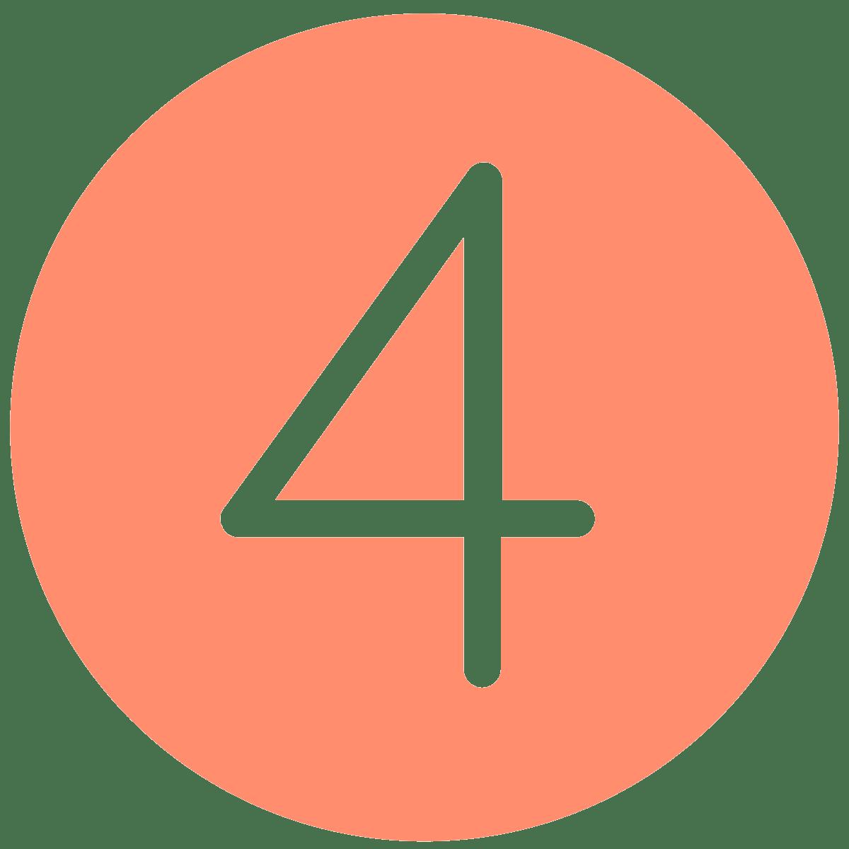 Number 4, orange